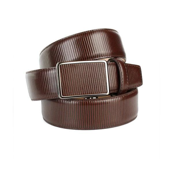 Pánsky kožený opasok 37G30S Brown, 110 cm