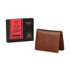 Hnedá kožená peňaženka Gentlemen's Hardware