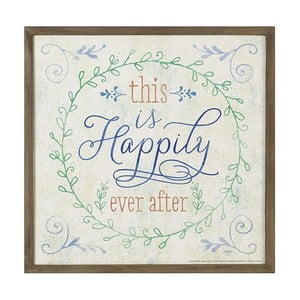 Dekoratívny nápis Heaven Sends Happily Ever After