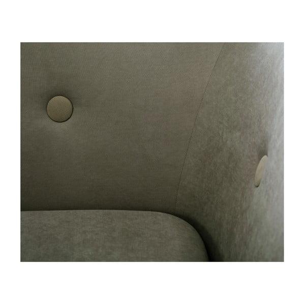 Olivovozelená trojmiestna pohovka Scandi by Stella Cadente Maison, pravý roh