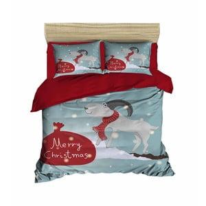 Vianočné obliečky na dvojlôžko s plachtou Amalia, 160×220 cm