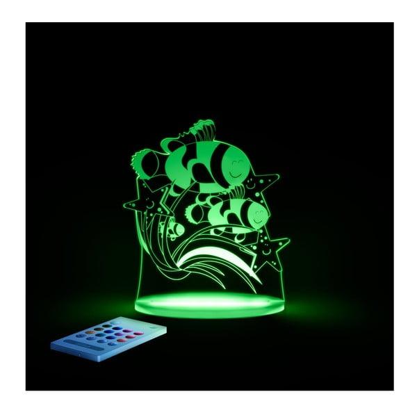 Detské LED nočné svetielko Aloka Fish