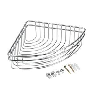 Rohový kúpeľňový košík z antikoro ocele Metaltex Cuba