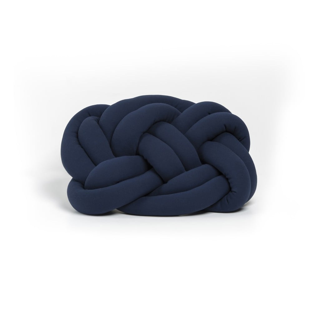 Tmavomodrý vankúš Cloud Knot Decorative Cushion, 40 x 32 cm
