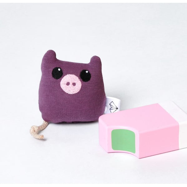 Mini plyšiak Prasiatko v krabičke, fialový