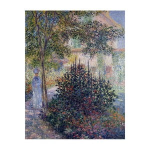Obraz Claude Monet - Camille Monet in the Garden at Argenteuil, 50x40 cm