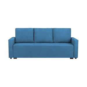 Modrá trojmiestna rozkladacia pohovka s úložným priestorom Melart Francisco