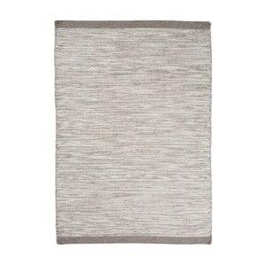 Vlnený koberec Asko, 70x140 cm, strieborný