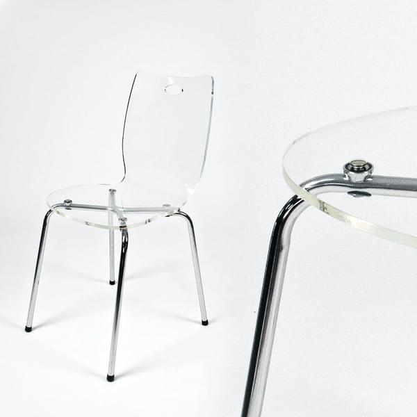 Jedálenská stolička Terry, transparentná