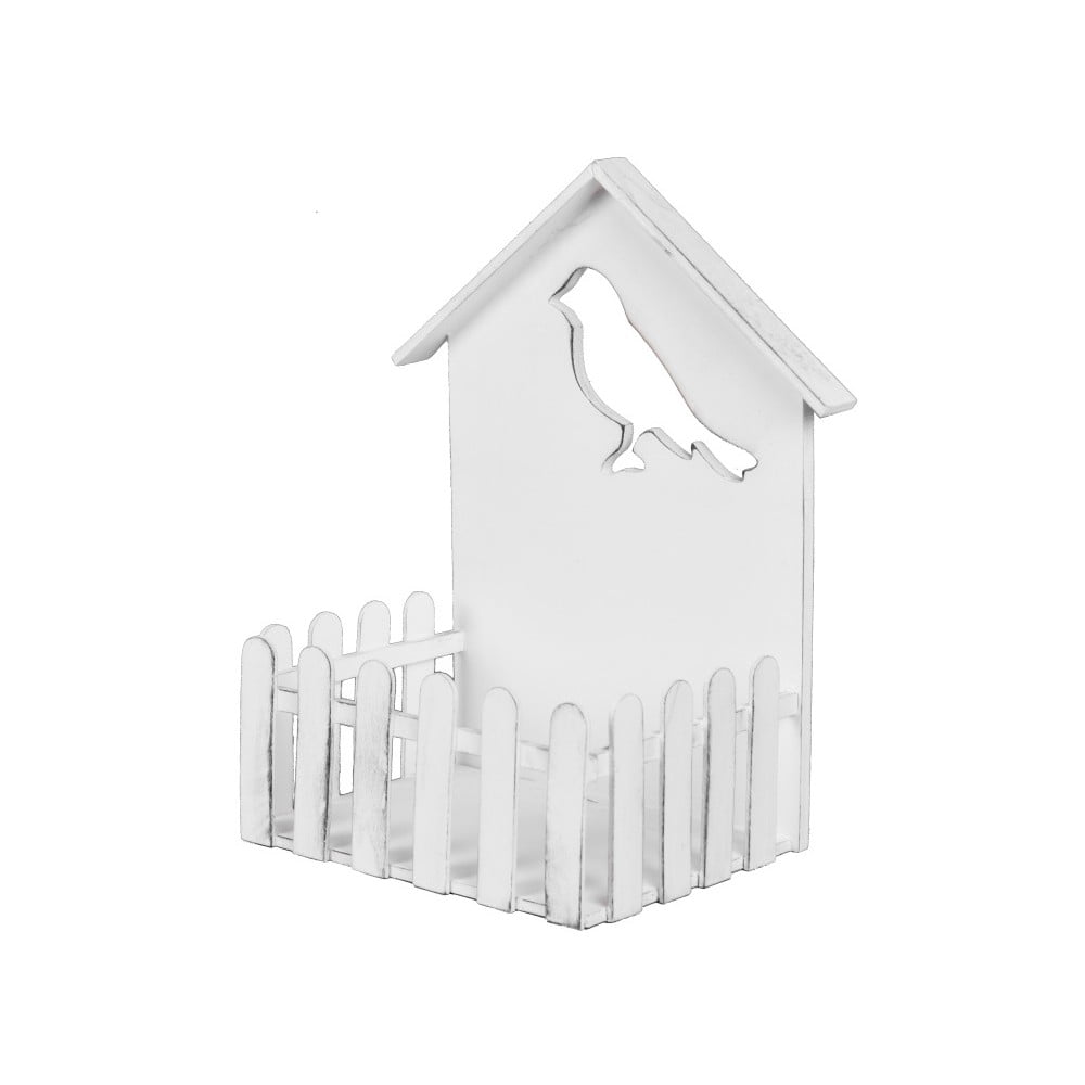 Biely dekorativní domeček pre vtáčiky Ego Dekor, 21,5 x 27 cm