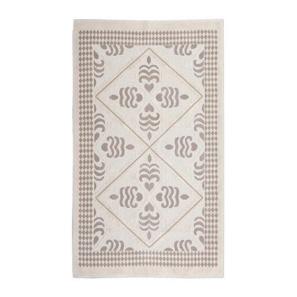 Krémový bavlnený koberec Floorist Flair, 80x300cm