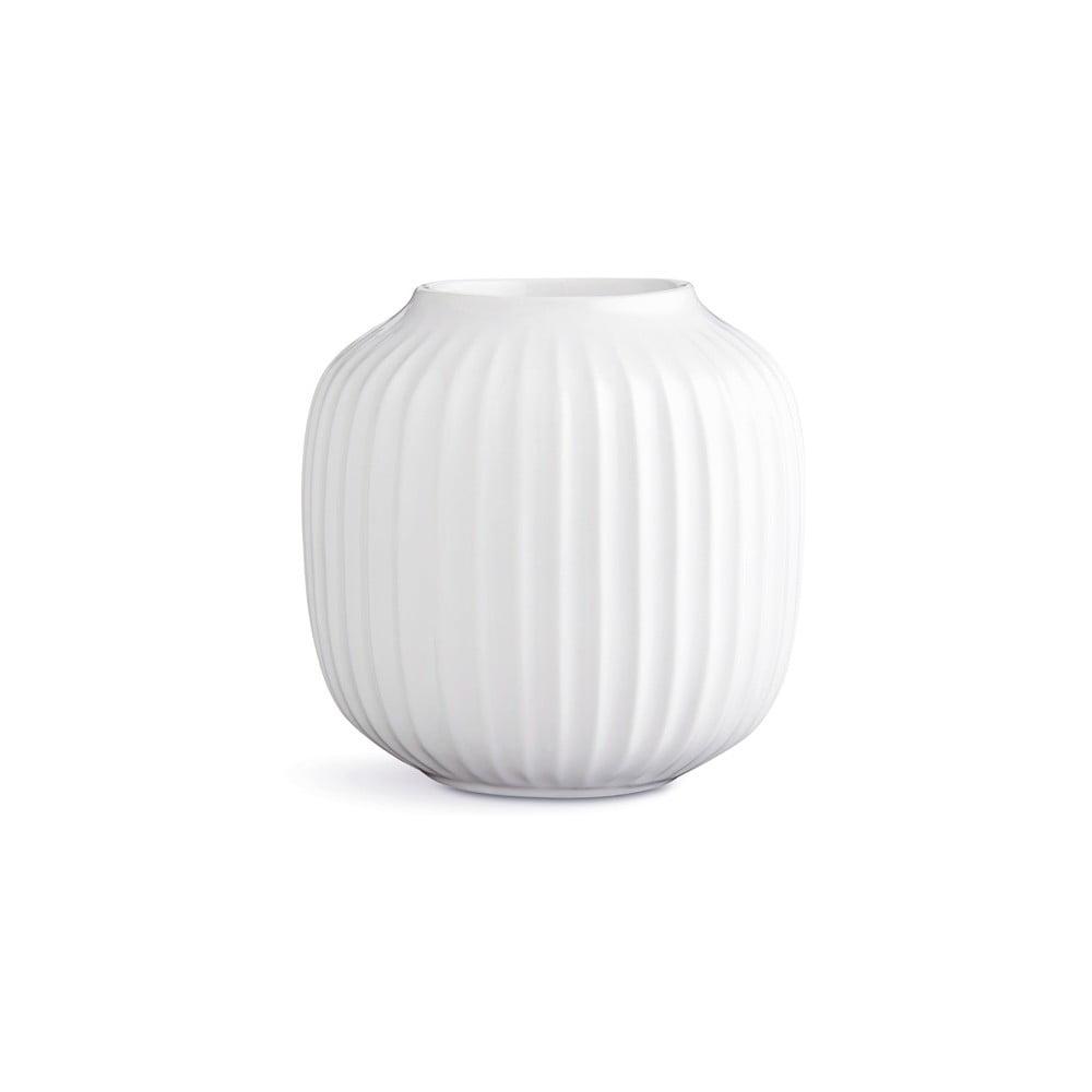 Biely porcelánový svietnik na čajové sviečky Kähler Design Hammershoi, ⌀ 9 cm