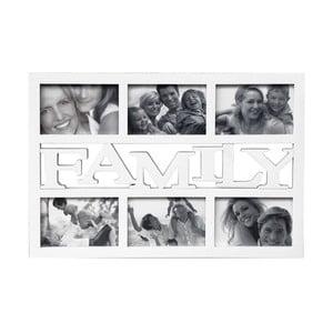 Fotorámik na 6 fotiek Family, biely