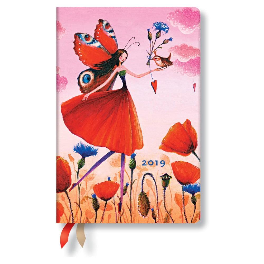 Diár na rok 2019 Paperblanks Poppy Field Horizontal, 9,5 × 14 cm