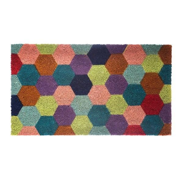 Rohožka z kokosových vlákien Hexagon, 40x70 cm
