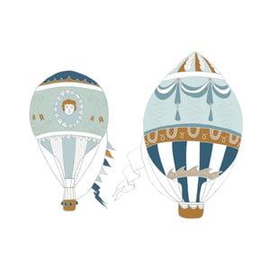 Sada 2 nástenných samolepiek Dekornik Ballons