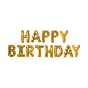 Balónik s nápisom HAPPY BIRTHDAY Neviti Gold