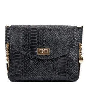Čierna kožená kabelka Roberta M Tasima Nero