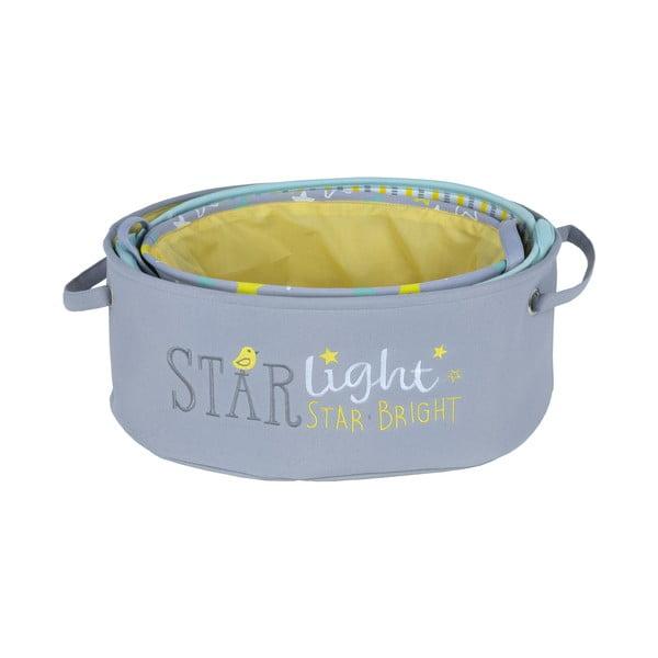 Sada 3 detských úložných boxov Starlight