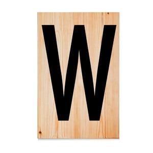 Drevená ceduľa Letters W