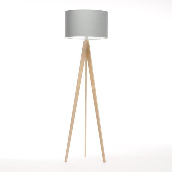 Svetlomodrá stojacia lampa 4room Artist, breza, 150 cm