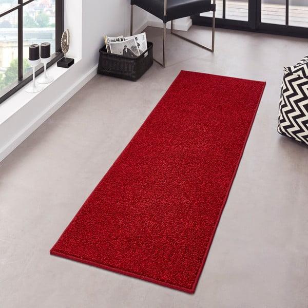 Červený koberec Hanse Home Pure, 80 × 150 cm