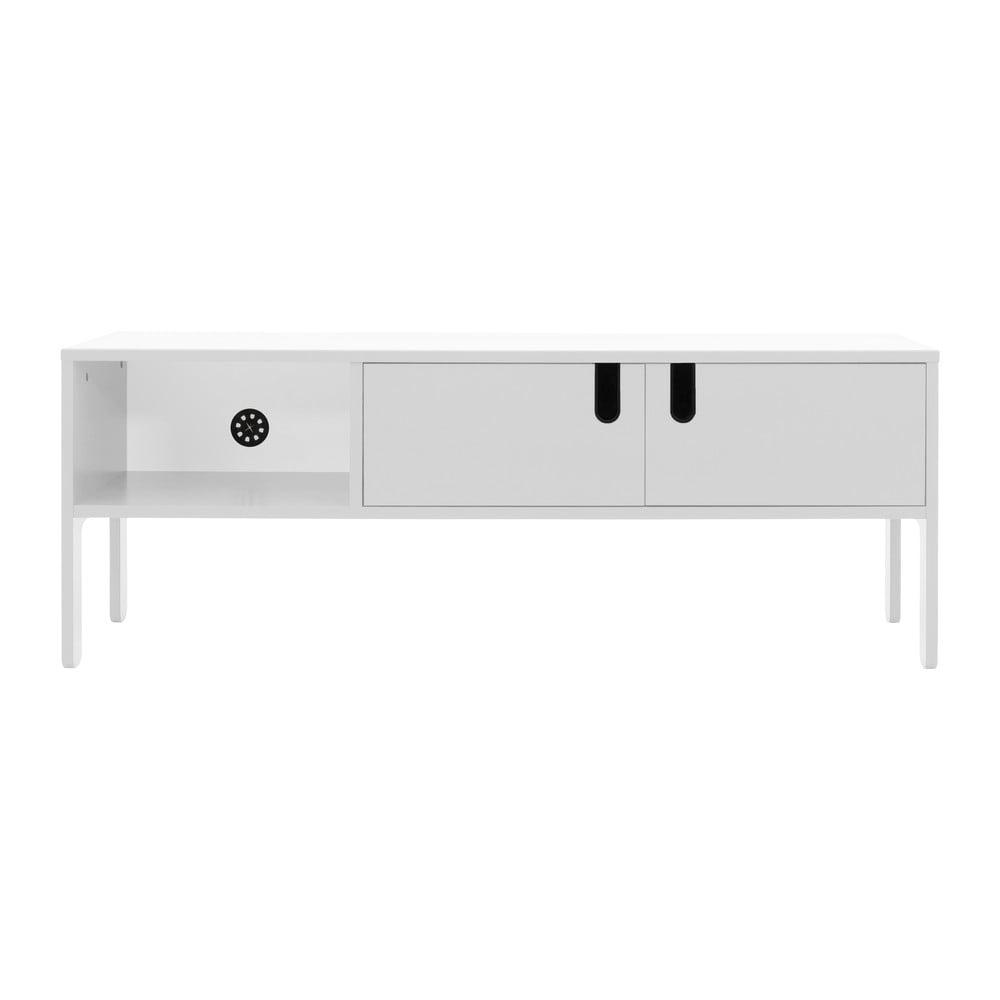 Biely TV stolík Tenzo Uno, šírka 137 cm