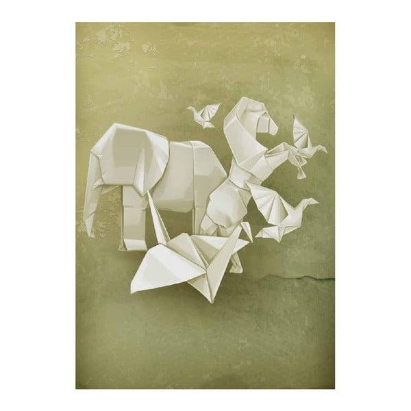 Plagát Origami Zoo, A3