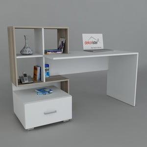 Pracovný stôl Bloom White/Cordoba, 60x120x73,8 cm