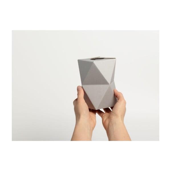 Skladacie origami váza SNUG.Low Grey