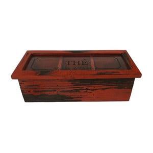 Box Thé Rouge Antique, 35x11 cm