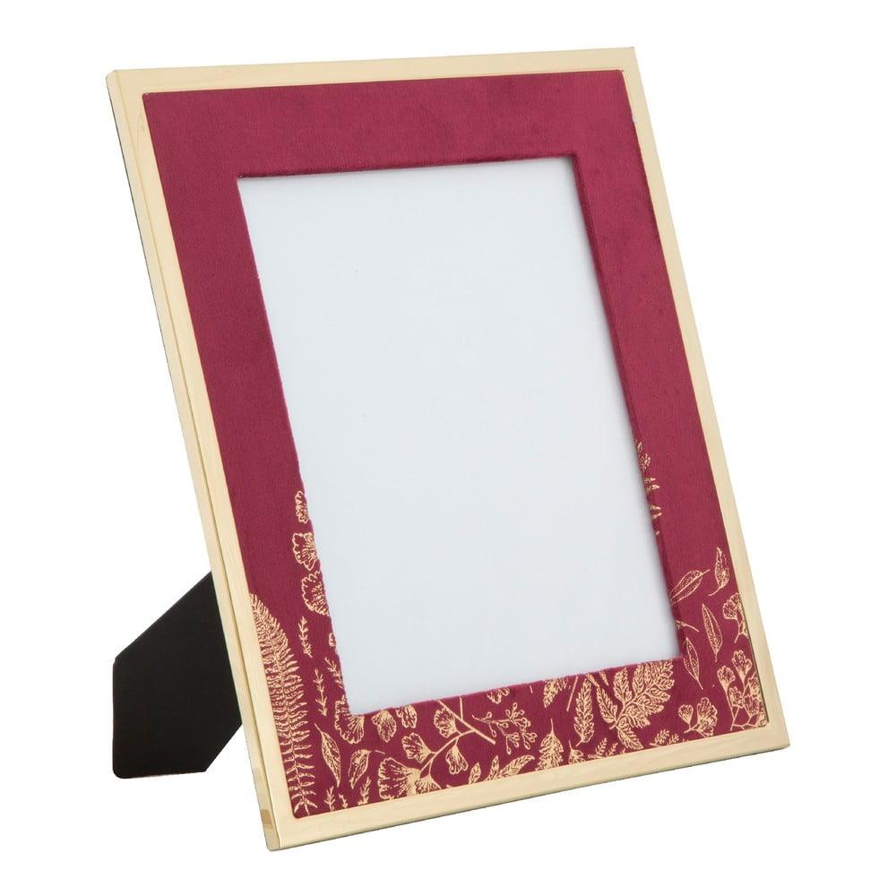 Vínovočervený stolový fotorámik Mauro Ferretti Glam, 20 × 25 cm