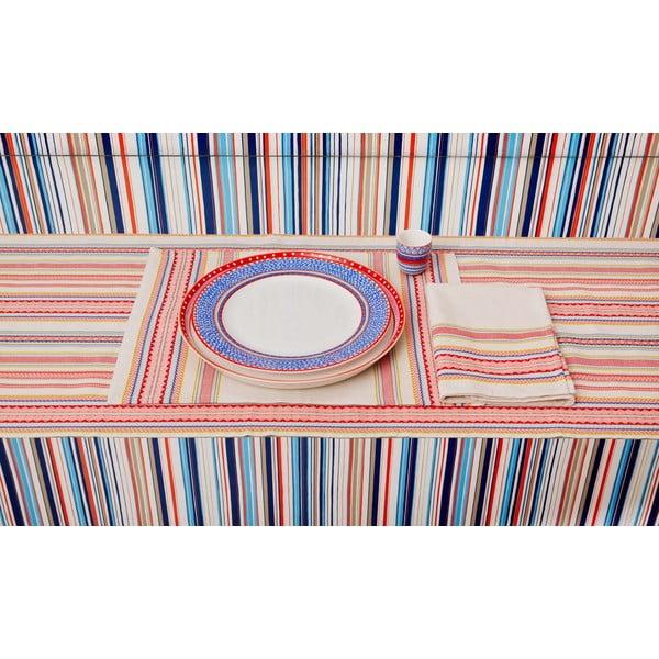 Sada 4 porcelánových tanierov Oilily 27 cm, červená