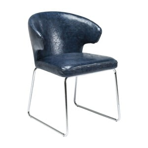 Sada 2 modrých jedálenských stoličiek Kare Design Atomic
