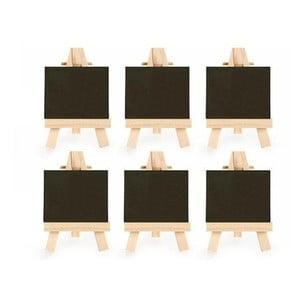 Sada 6 malých kriedových tabulí so stojanom Kikkerland Class