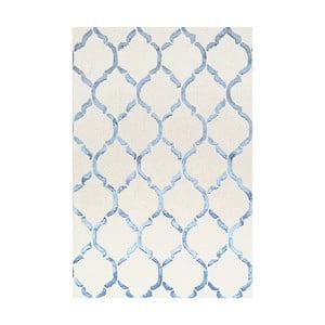 Ručne tuftovaný modrý koberec Bakero Chain, 153 × 244 cm