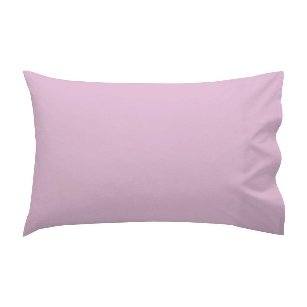 Ružová bavlnená obliečka na vankúš Happynois, 50 × 30 cm