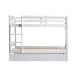 Biela poschodová posteľ so zásuvkou na matrac pre hosťa Marckeric Torino, 90 × 190 cm