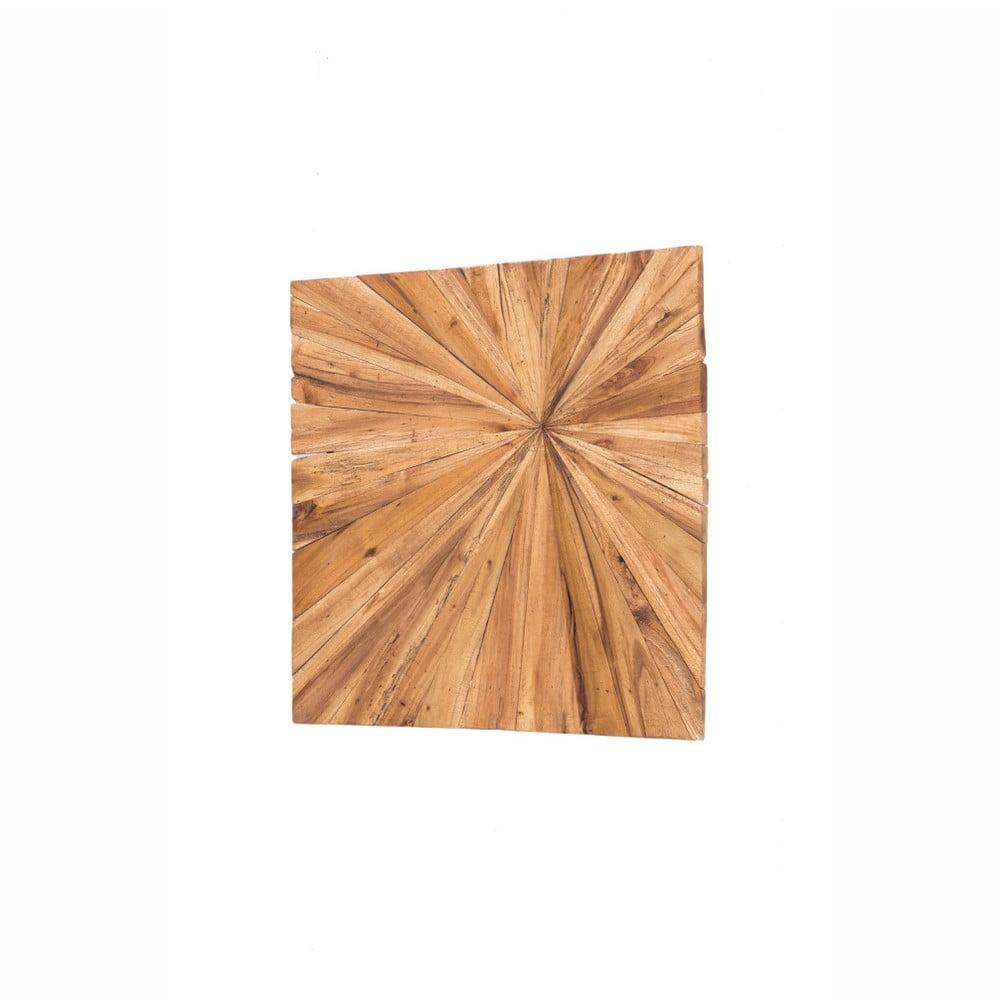 Drevená nástenná dekorácia WOOX LIVING Sun, 70 × 70 cm