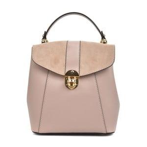 Ružový kožený batoh Isabella Rhea Milesso