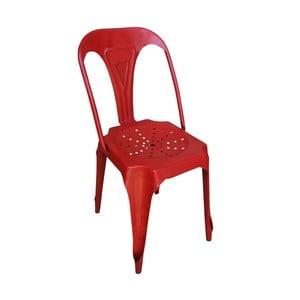 Červená železná stolička Antic Line Pedro