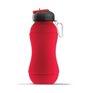 Športová fľaša Sili-Squeeze, červená, 700 ml