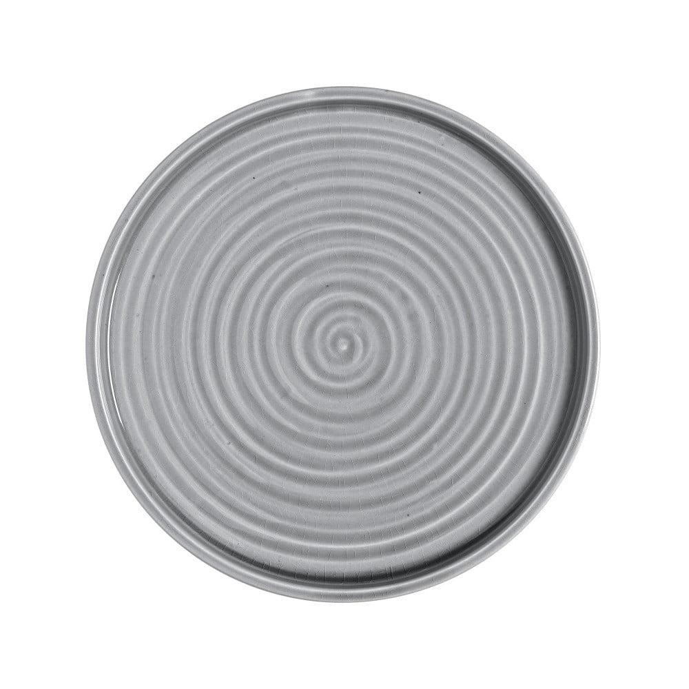 Sivá kameninová tácka A Simple Mess Hoej, ⌀ 32 cm