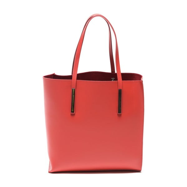 Kožená kabelka Fulvia, červená