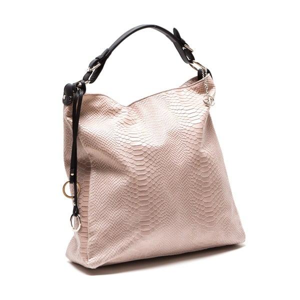 Kožená kabelka Clair, ružová