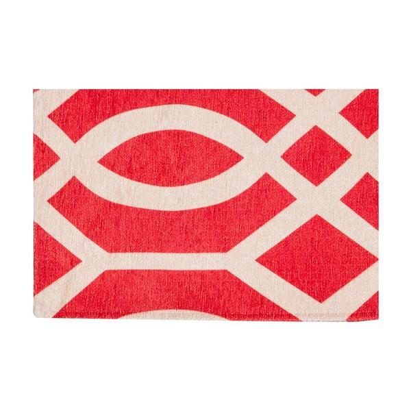 Vysokoodolný kuchynský koberec Wallpaper Coral Red, 80x130 cm