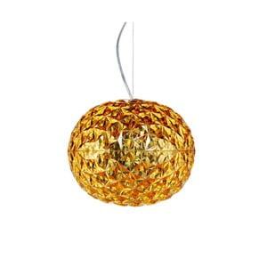 Závesné svietidlo v zlatej farbe Kartell Planet