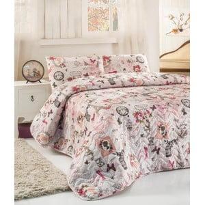 Sada prešívanej prikrývky na posteľ a dvoch vankúšov Double 287, 200x220cm
