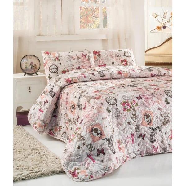 Sada vankúša a prikrývky cez posteľ Madame, 160x220 cm