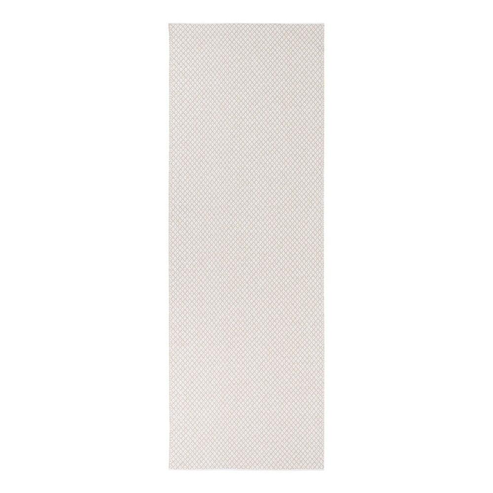 Krémovobiely behúň vhodný do exteriéru Narma Diby, 70 × 150 cm
